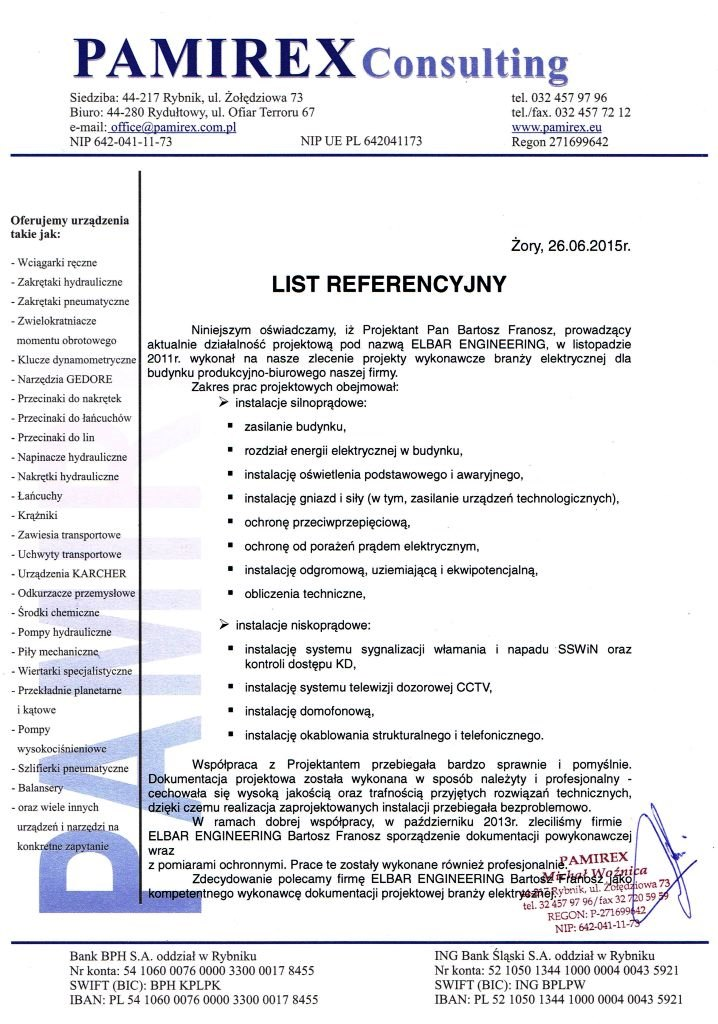 LIST REFERENCYJNY_Pamirex