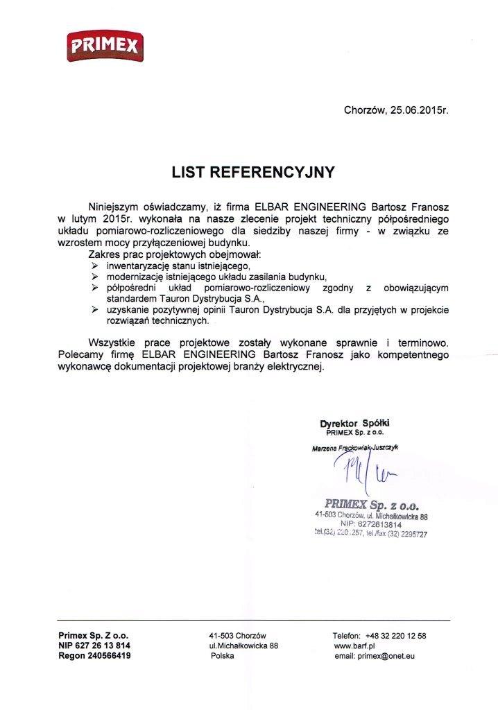 LIST REFERENCYJNY_Primex